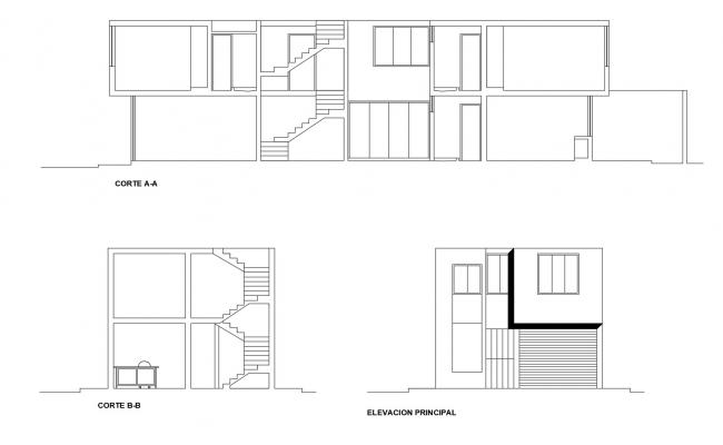 Simple Two Storey House Plans In DWG File