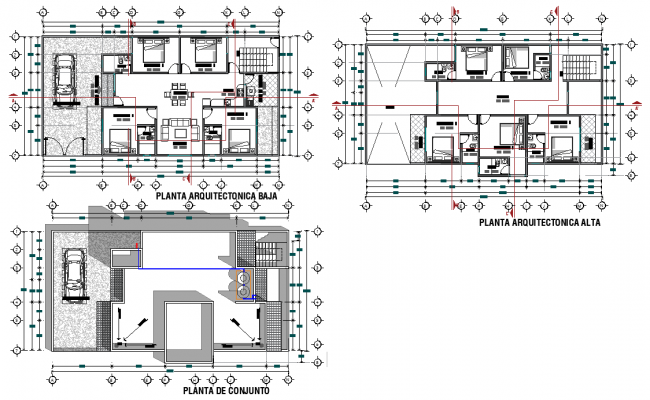 Residential house planning layout file
