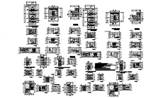 Residential Bungalow Plan In AutoCAD File