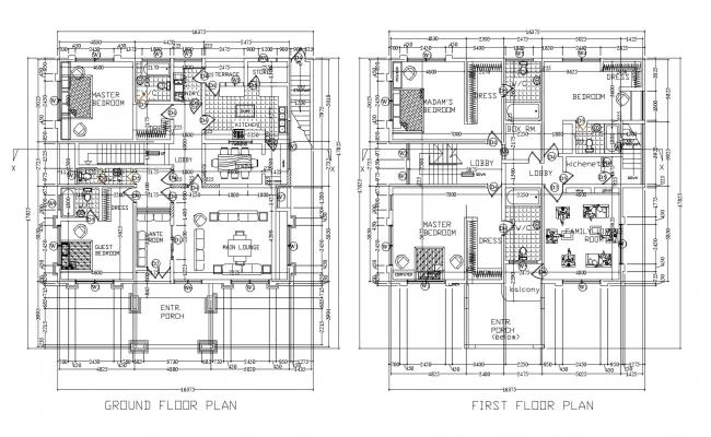 Residential house in DWG file