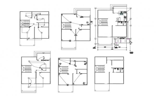 Residential House In AutoCAD File