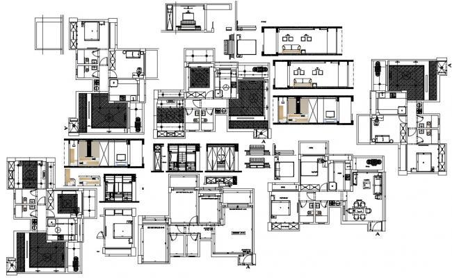 Small House Interior Design  In AutoCAD File