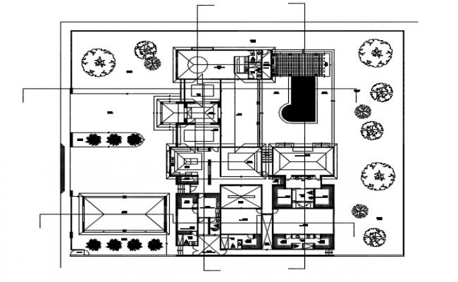 Residential housing plan detail dwg file