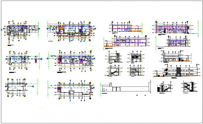 Residential housing plan detail information dwg file