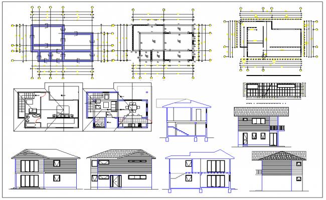 Residential housing plan dwg file