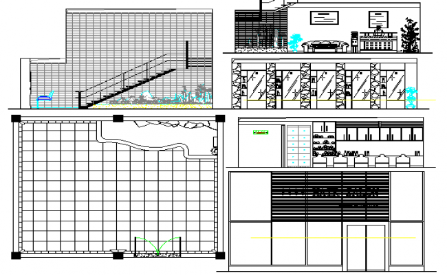 Residential interior project auto-cad details dwg file