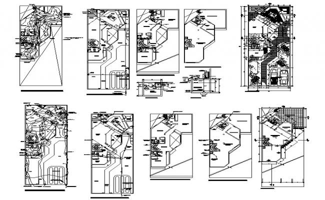 Residential layout in AutoCAD