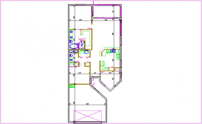 Residential plan  dwg file