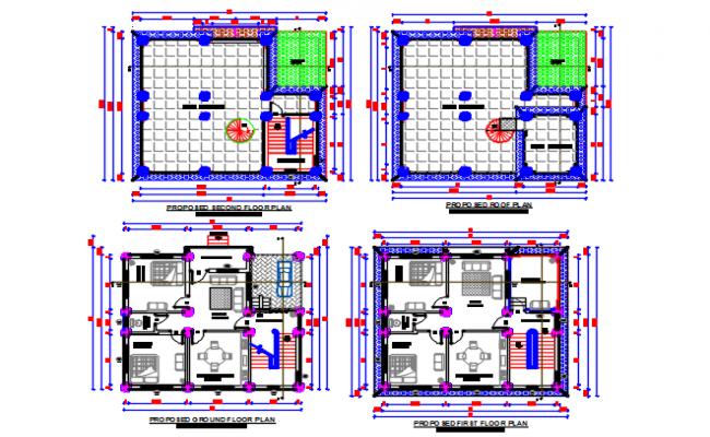 Residential plan detail dwg file