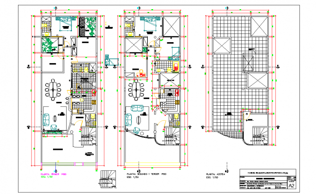 Residential plan view detail dwg file