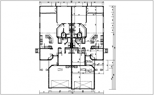 Residential view of house plan dwg file