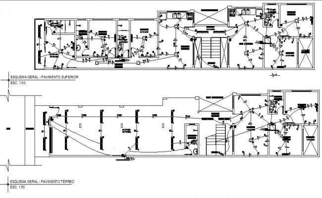 residential villa project electrical plan detail dwg file. Black Bedroom Furniture Sets. Home Design Ideas