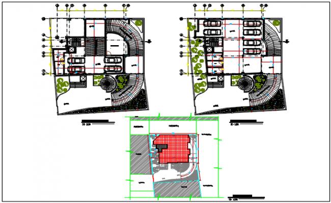 Residential working plan detail dwg file