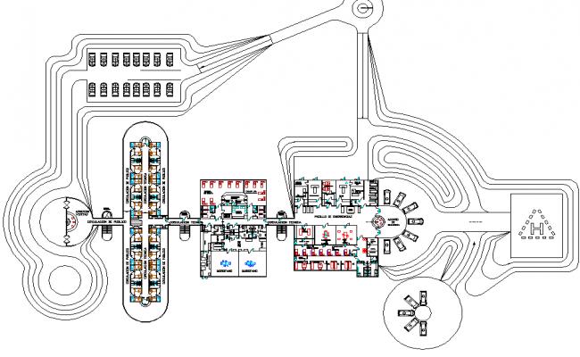 Resort Layout plan dwg file