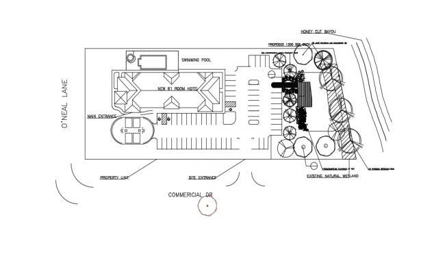 Resort Plan In AutoCAD File