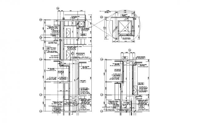 Restaurant Building Section Plan