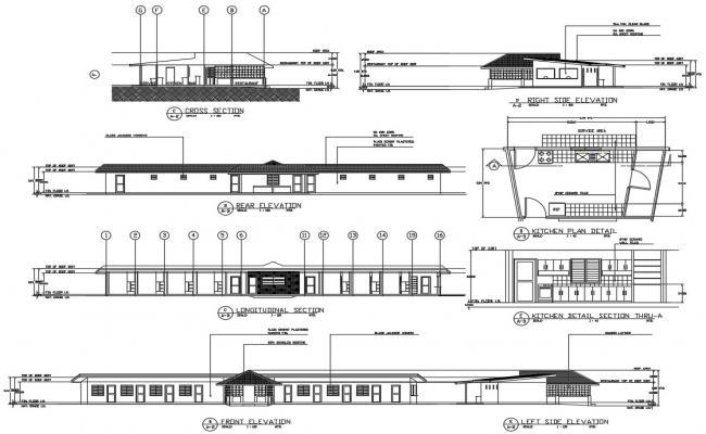 Restaurant CAD Plan