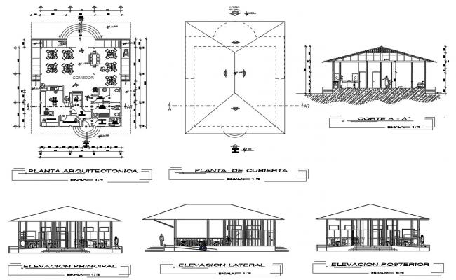 Restaurant DWG AutoCAD Drawing