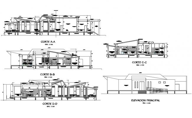 Restaurant Elevation Design AutoCAD File