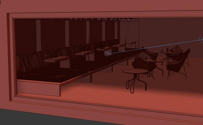 Restaurant Inside View In 3D MAX File Free