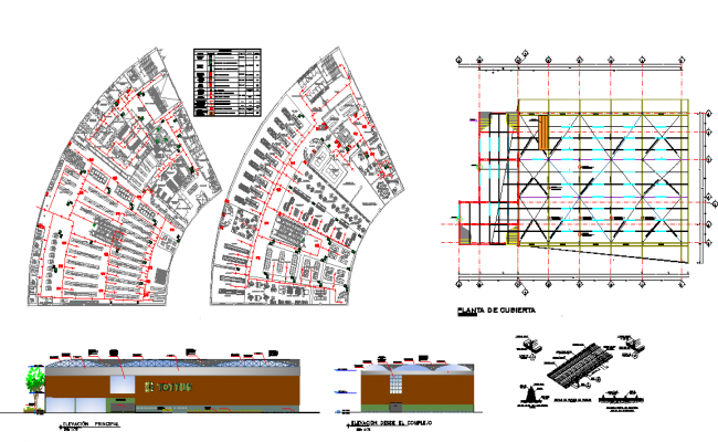 Restaurant LAy-out & structure  &  Elevation detail