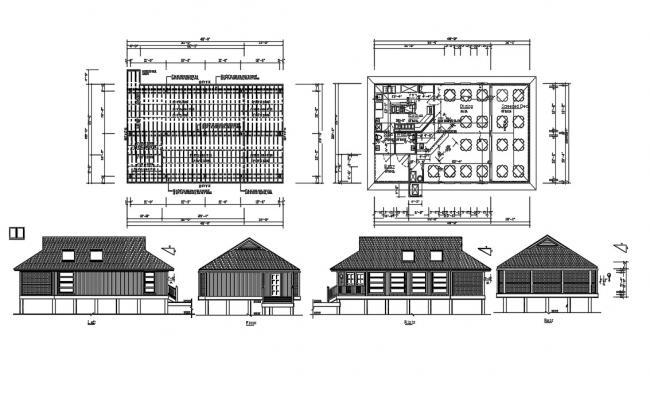 Restaurant Project AutoCAD Plan