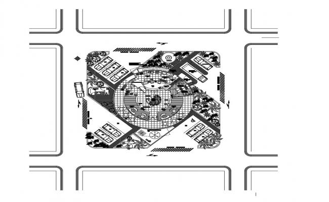 Restaurant drawing of AutoCAD