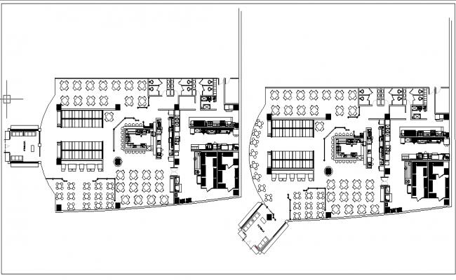 Restaurant drawing plan elevation dwg file