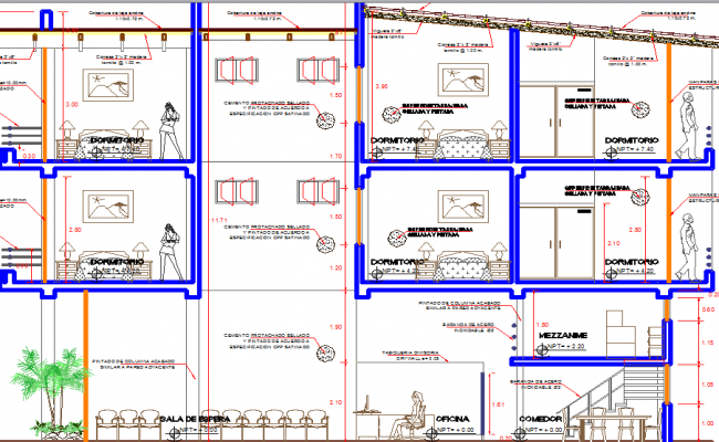 Restaurant elevation dwg file