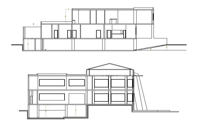 Restaurant front elevation details
