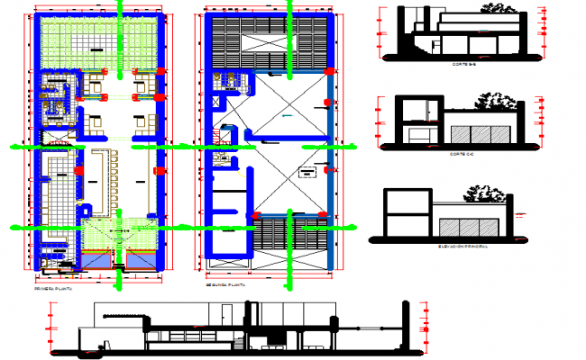 Restaurant with Bar layout dwg file