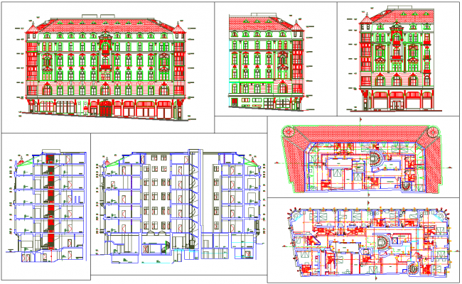 Restoration architecture and design in autocad dwg files