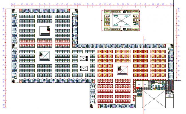 Retail market layout plot detail