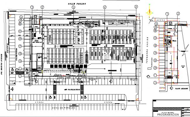 Retail super market structural layout plan details dwg file