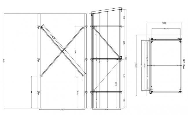 Revolving Door CAD Drawing