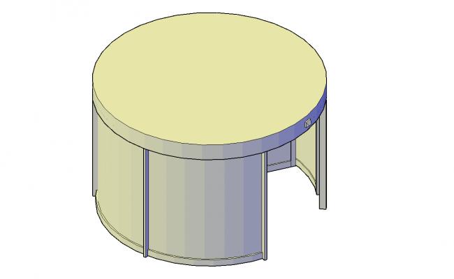 Revolving Door Plan Detail Dwg File