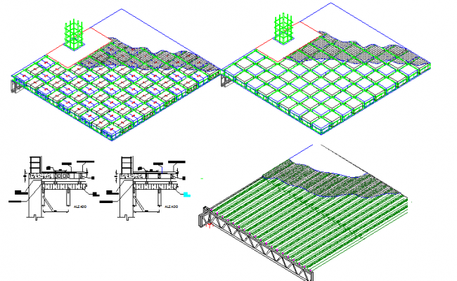 Ribbed slab construction details dwg file