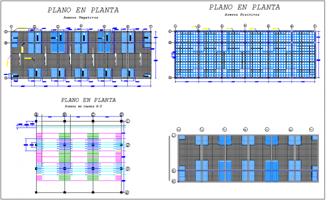 Ribbed slab plan structural detail dwg file