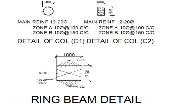 Ring beam detail dwg file