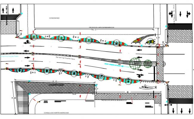 Road Infrastructure CAD Drawing