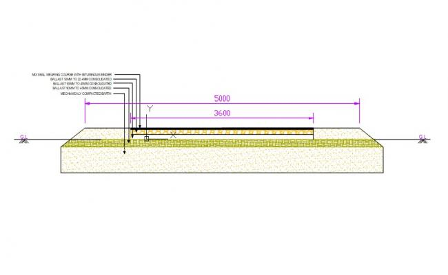 Road Section Drawing