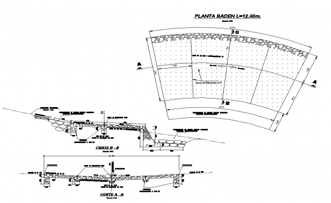 Road cross section structure detail elevation layout autocad file