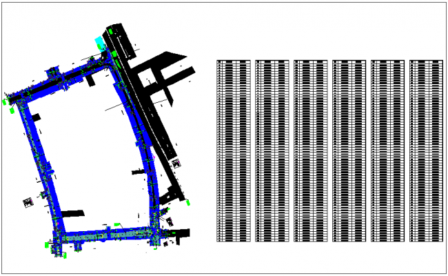 Road design with northing and easting  table view dwg file
