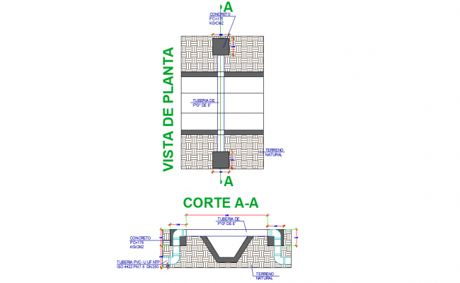 Road junction plan and section layout file