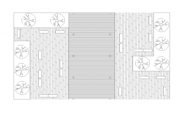 Road section plan detailed dwg.