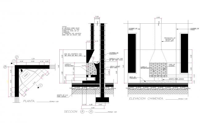 Roaster plan detail dwg.