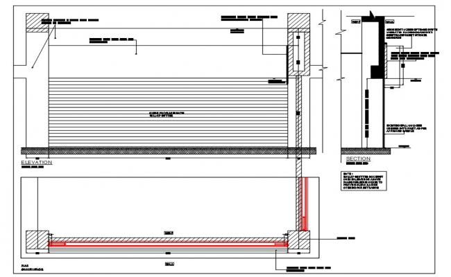 Roll Up Shutters AutoCAD File