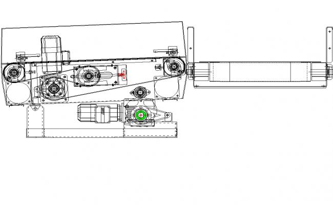 Roller conveyor plan detail dwg file.