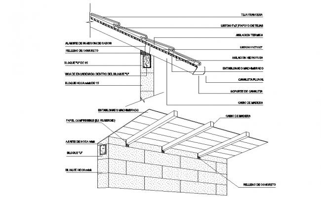 Roof Construction CAD Drawing
