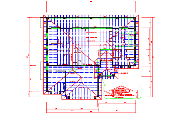 Roof Lay-out For House